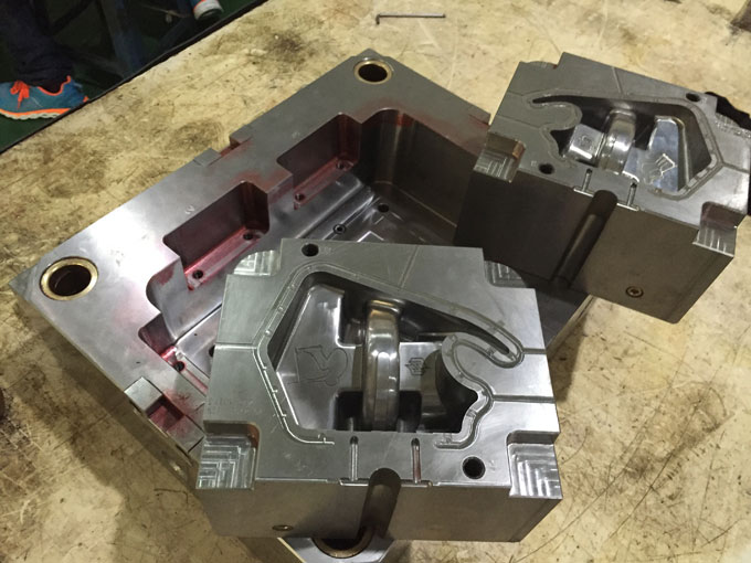 Finished plastic injection mold