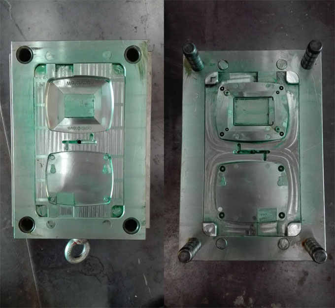 Injection mold for plastic protective case