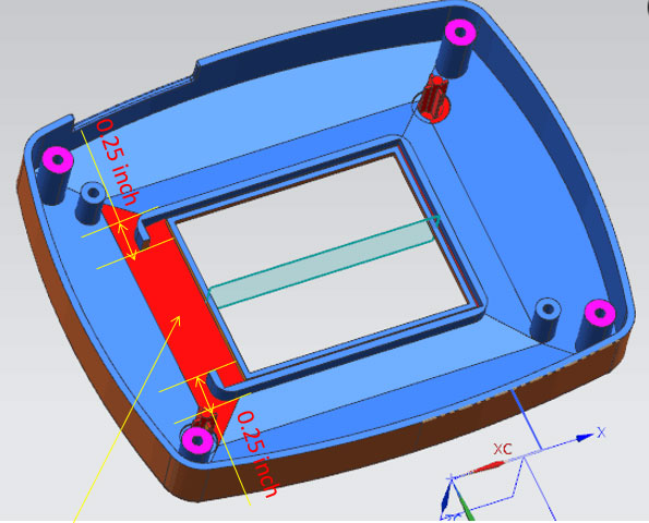 Modify wall thickness of the plastic protective case