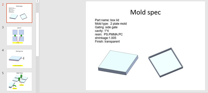 Plastic packaging case mold basic information