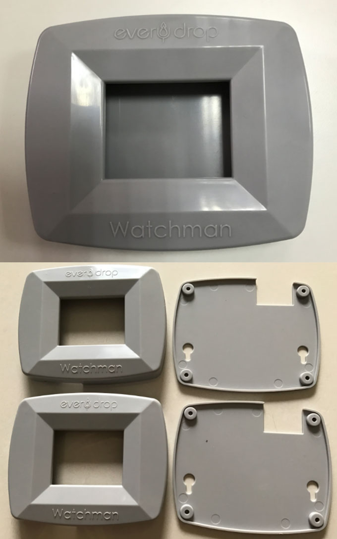 Plastic protective case without sink mark