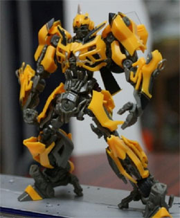 Plastic toy transformer