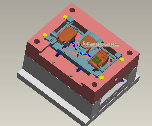 Remote controller mold design in 3D