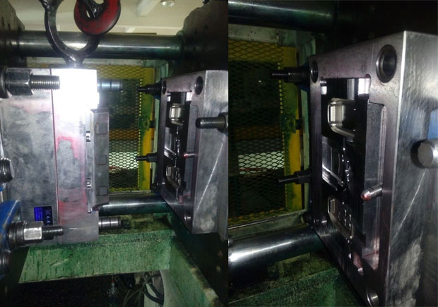 Remote controller mold on injection machine